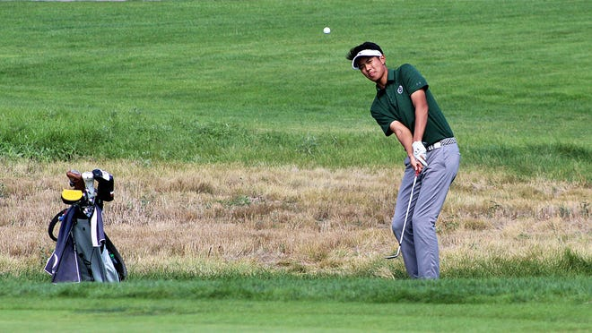 Colorado State golfer Parathakorn Suyasri hits a chip shot at the Jerry Pate National Intercollegiate tournament in Vestavia Hills, Ala. Suyasri shot an 11-under-par 199 total over 54 holes to win the title in a tournament whose previous winners include Tiger Woods, Justin Thomas and David Toms.