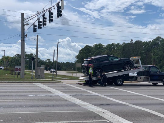 A multi-car crash shut down Daniels Parkway at Gateway Boulevard on Wednesday morning. A deputy at the site said there were multiple injuries.