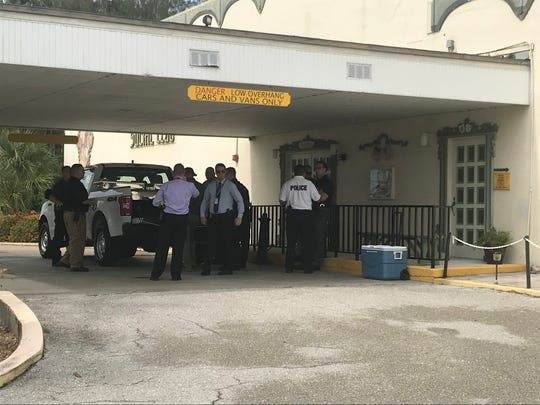Cape Coral Police Department meeting in front of the German American Club in Cape Coral to continue to try and locate Diane Ruiz who was reported missing on Monday, Oct. 7, 2019.