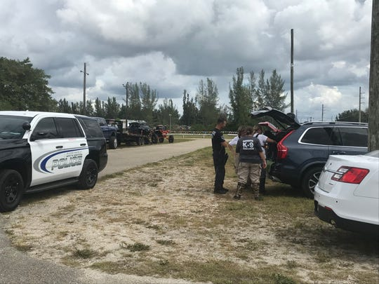 The Cape Coral Police Department with a K9 unit looking in the area of the German American Club in Cape Coral for Diane Ruiz who was reported missing on Monday, Oct. 7, 2019.