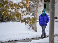 A storm system dropped 9 inches of fresh snow in Great Falls Tuesday afternoon through Wednesday morning, October 9, 2019. Temperatures are expected to drop to near record lows for Thursday and Friday.