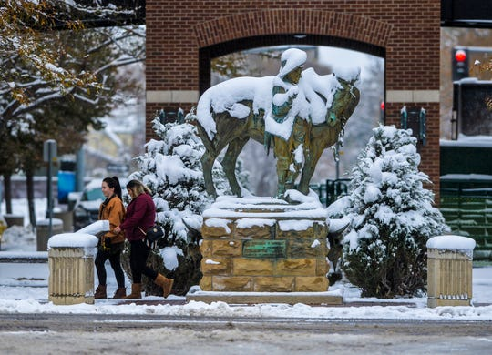 A storm system dropped 7.7 inches of fresh snow in Great Falls Oct. 8-9. Through Sunday, Oct. 27, 31 inches of snow had been recorded in the Electric City, about half the snow that falls in a typical year.