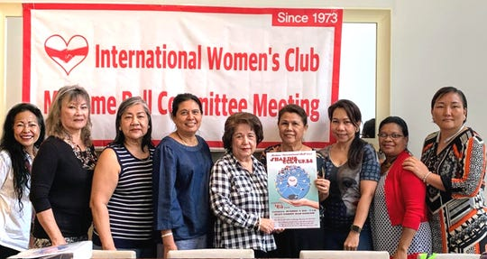 "The International Women""s Club of Guam committee members met to plan their Madame International Ball at the Hyatt Regency Resort set for 6 p.m. Nov. 9. Committee members from left: Ore David, Al Payne, Dorothy Borlas, Chalong Clark, Lina McDonald, Kim Bottcher, Cari Nakagawa, Jeanny Donatus (vice president and MIB chairperson) and Ina Lee (IWCG president)."