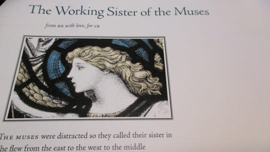 "Broadsides for ""The Working Sister of the Muses,"" a poem for Connie Brothers written by Brenda Hillman, were handed out on Oct. 5 during Brothers' retirement celebration at the University of Iowa."