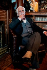 "In New Stage Theatre's ""Murder on the Orient Express"" actor Bill Ford Campbell plays Belgian detective Hercule Poirot."