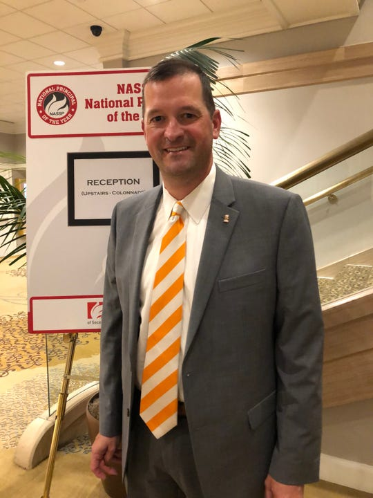 Powell High School principal Chad Smith  was honored as Tennessee's Principal of the Year.