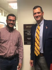 Chad Smith, right, spent his time in Washington, D.C., talking with Matthew Stern, who works in the office of Sen. Lamar Alexander of Tennessee.