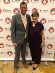 Powell principal Chad Smith and his mother, Vicki, enjoyed several days in Washington while he was honored.