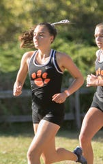 Brighton's Katie Carothers is the only girl in Livingston County to break 19 minutes this cross country season.