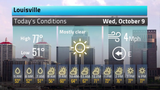 Temperatures will feel more like fall in Louisville Oct 9, 2019, with a few showers predicted later in the week. Here's the full weather forecast.