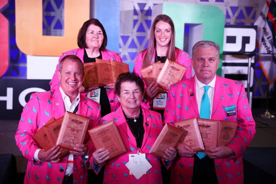 The Kentucky Derby Festival staff showing off their awards at the International Festivals & Events Association's convention.