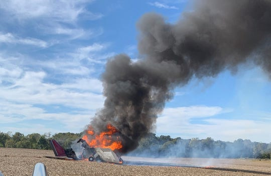 A plane was experiencing engine trouble leaving from the Fayette County Airport and caught fire on Wednesday. The pilot walked away uninjured.