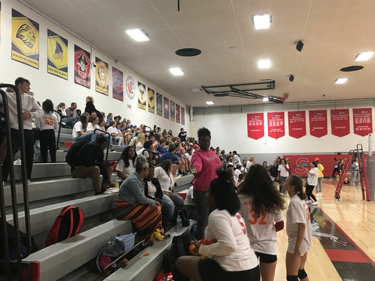 The Shorewood community came to Shorewood High School's girls volleyball match Oct. 8 to support the Frieseke family, who lost their daughter Megan in a car accident near Madison in March.
