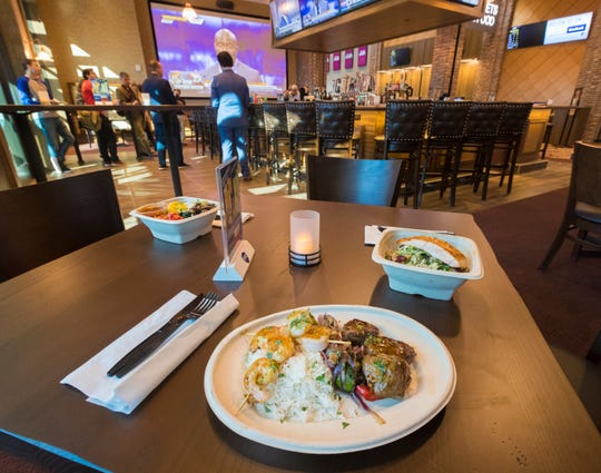 Sample menu items are displayed Wednesday at Movie Tavern by Marcus at Brookfield Square, which opens Friday.