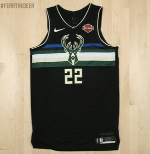 """The Milwaukee Bucks unveiled their new """"Statement"""" edition jersey on Wednesday."""