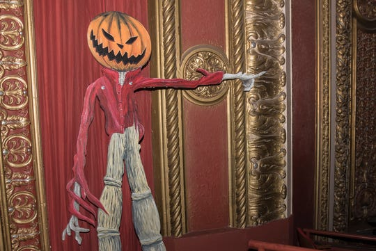 "Part of Paul Tennessen's Bay View Halloween display of ""The Nightmare Before Christmas"" will be on display at the Riverside Theater for two showings of the stop-action-animation movie on Oct. 20. The Milwaukee Symphony Orchestra will perform the score."