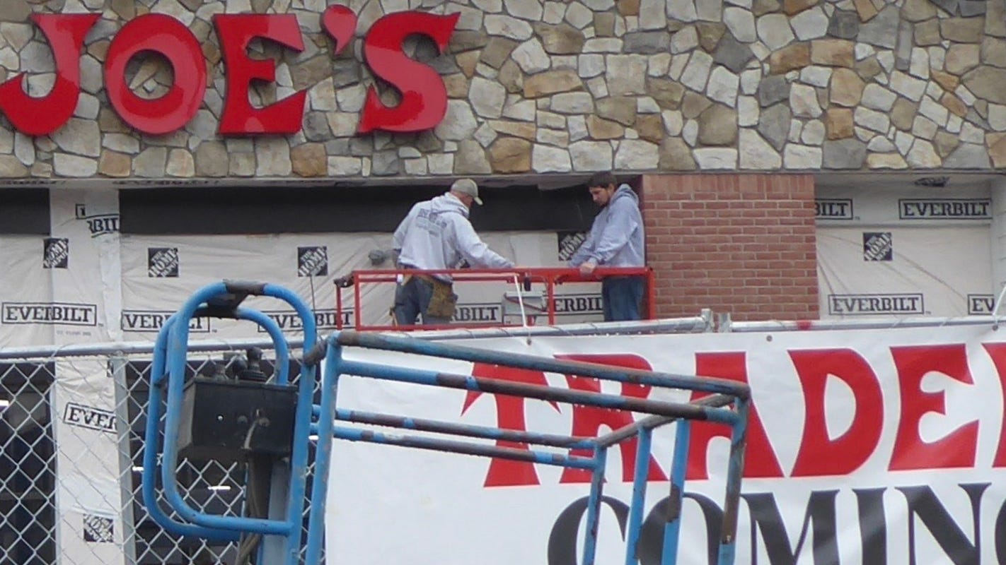 Trader Joe's sign is up as grocery store prepares for Denville grand opening