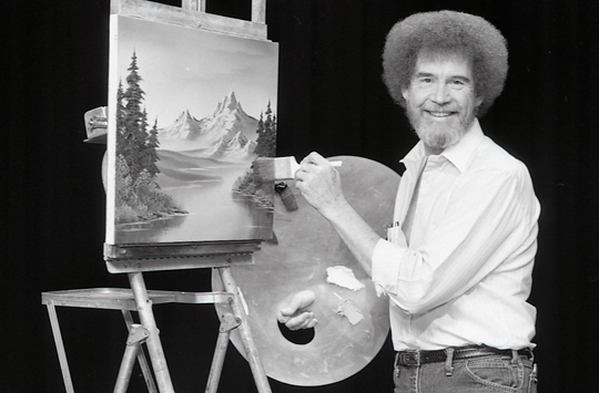 "Bob Ross filmed his PBS program, ""The Joy of Painting"" in Muncie from 1983 to 1988."