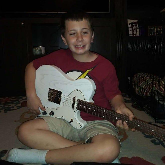 Ayden Morgan, 9, got to meet his favorite singer, Kelsea Ballerini, earlier this year. This week, Ballerini sent the boy a personalized guitar.