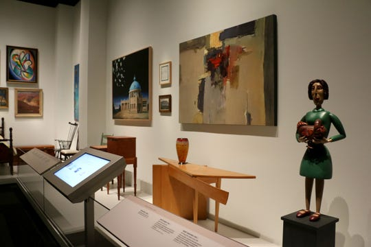 Art in the Tennessee State Museum gallery, In Search of the New: Art after 1900, including Wendy Maruyama's Writing Table