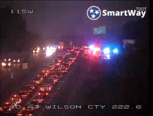 Nashville and Mt. Juliet police are collaborating on a search for armed robbery suspects on I-40 near the Davidson-Wilson County line.