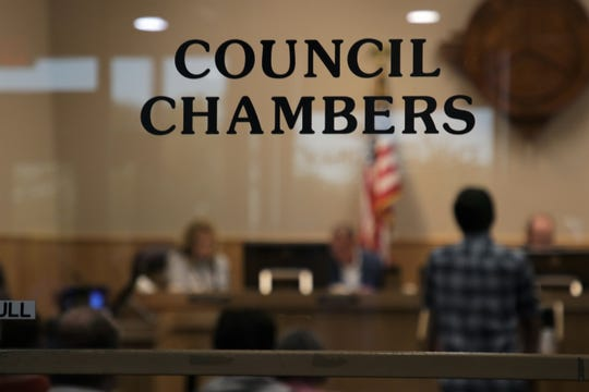 The Farmington City Council voted 3-2 to withdraw a resolution that included language opposing abortion from the agenda, Tuesday, Oct. 8, 2019, during its regular meeting at Farmington City Hall.