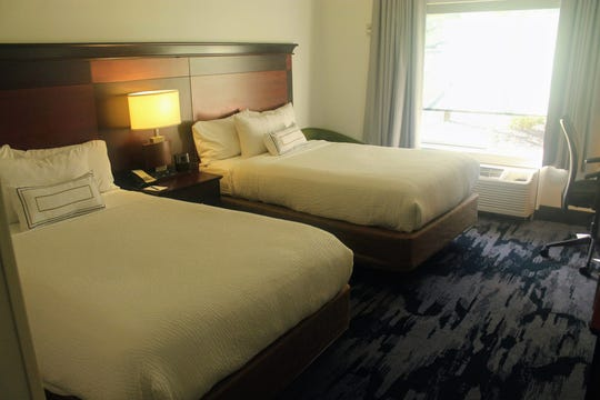 The interior of one of the guest rooms inside the hotel. The hotel recently went through a $1.5 million renovation that took several months.