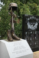 This monument honors all who served in the War on Terrorism Operation Iraqi Freedom and Operation Enduring Freedom.