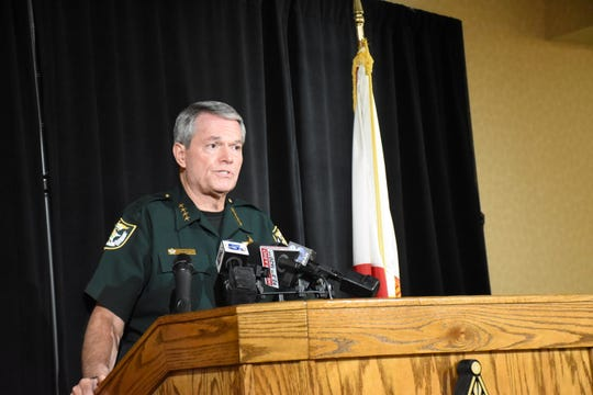 Escambia County Sheriff David Morgan holds a press conference Wednesday to explain his agency has enacted a new policy to alert the public more often about missing persons reports.