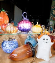 Hundreds of glass and ceramic pumpkins are being prepared for the 13th annual Pumpkin Patch fundraiser at the First City Art Center in Pensacola on Wednesday, Oct. 9, 2019.  The sale will be held on Saturday, Oct. 12th from 10 am to 2 pm.
