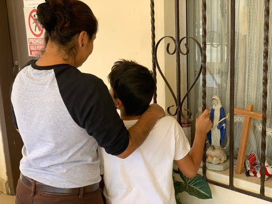 Welsy Duvo, 30, fled domestic abuse in Honduras. She was sent back to Mexico with her 9-year-old son to await the outcome of her case for asylum in the U.S.