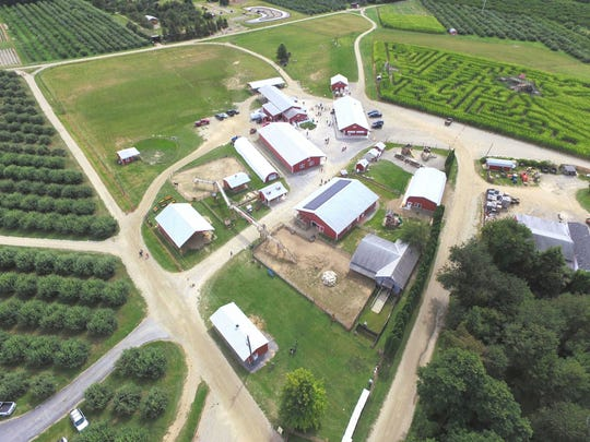 On weekends, enjoy the corn maze, hayrides, haunted house, fun park and live music at Barton Orchards.