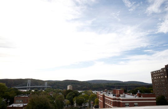 The view of the Hudson River from Zeus Brewing Company's rooftop bar in the City of Poughkeepsie on October 8, 2019.