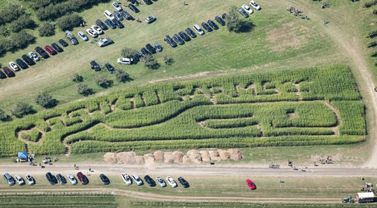 A corn maze from a past event at Fishkill Farms.