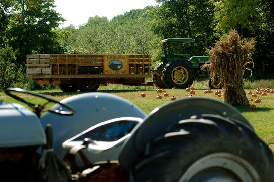 Dubois Farms in Highland has tractor-pulled wagon rides, a corn maze and pick-your-own fruits.