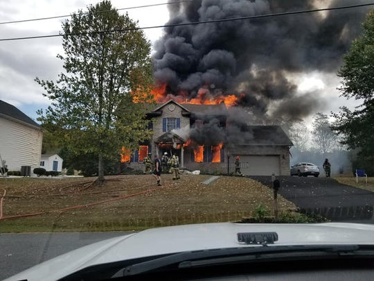 560 Fern Lane, Hamilton Twp. Four fire departments responded to combat the blaze, but the home was completely destroyed.