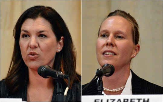 Megan Dahle (left) and Elizabeth Betancourt are the last remaining candidates in the special election to represent California's 1st Assembly District.