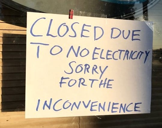 Another business in Anderson closed due to PG&E's power outage on Wednesday, Oct. 9, 2019.