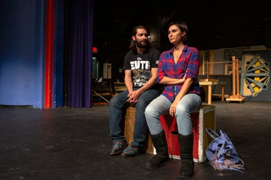 "Zach DuFault and Emily Karlsson rehearse for ""Gruesome Playground Injuries"" at South Salem High School, Oct. 8, 2019, for a one-night show at The Elsinore Theatre on Saturday evening, October 19th."