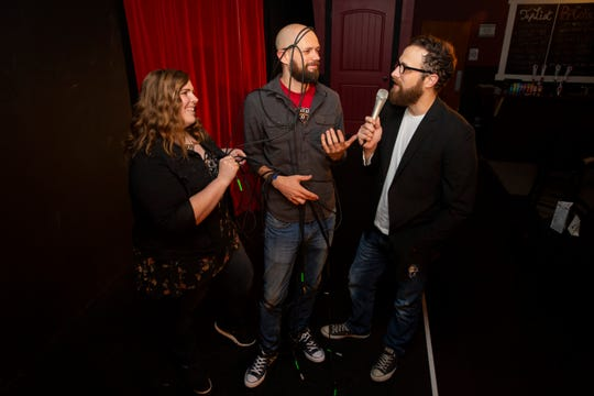 (L-R) Julie Shadlow, Chris Pelka and Jared Richard pose for a portrait at the Capitol City Theater in Salem, Sept. 26, 2019.