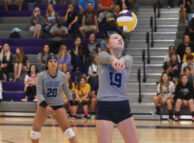 Airline vs Benton volleyball Tuesday evening at Benton High School.