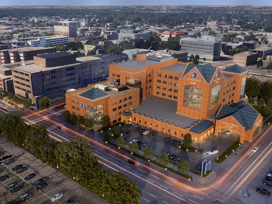 A rendering of the heart hospital planned by Sanford Health for Bismarck, North Dakota.