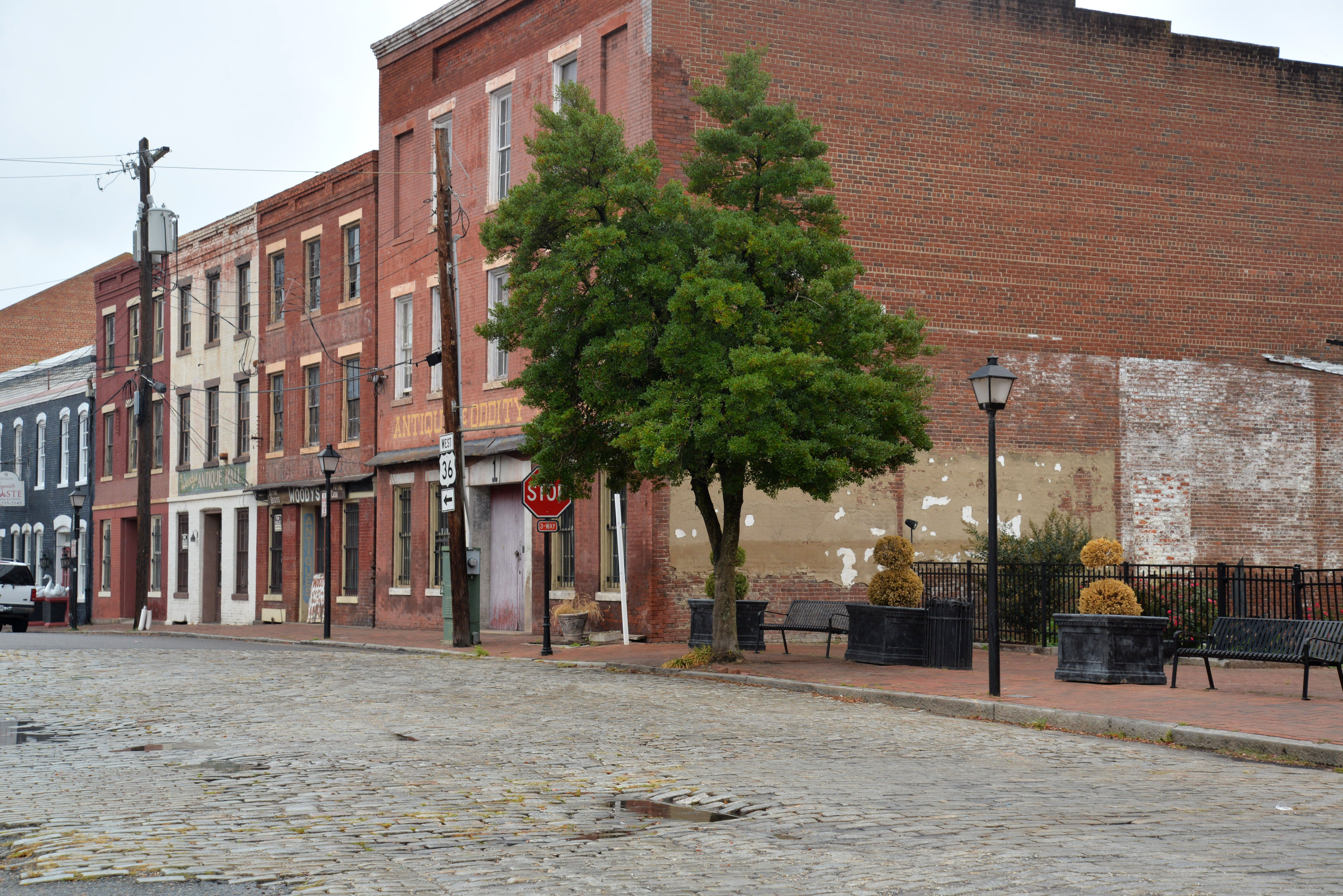 """Old Towne Petersburg was used in the upcoming Focus Features film """"Harriet,"""" a biopic about Harriet Tubman, to portray mid-19th century Philadelphia. Seen here is East Old Street near the intersection of North Sycamore Street."""