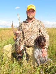 Missouri resident Jake Howerton took advantage of a preseason pheasant hunt at a game farm.