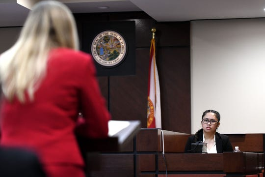 Assistant State Attorney Georgia Cappleman asks Katherine Magbanua to share details about her relationship with Charlie Adelson.