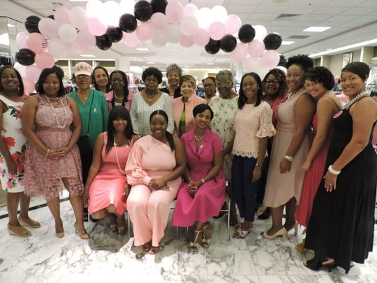 "Members of Alpha Kappa Alpha Sorority, Psi Pi Omega Chapter at their ""Fashionably Pink"" event at Treasure Coast Square mall on Oct. 5, 2019."