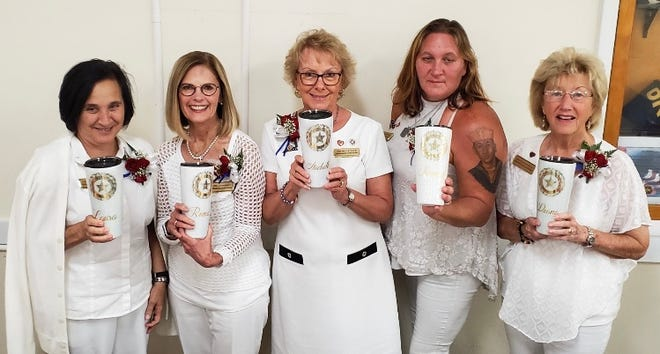 Gold Star Mothers of Indian River County, from left, Laura Clement, Roma Anderson, Michelle Dale, Tammy Thurber and Diana D'Angelo are planning the 2019 Walk-A-Thon for Military Suicide Awareness on Nov. 16 at the Walking Tree Brewery in Vero Beach.