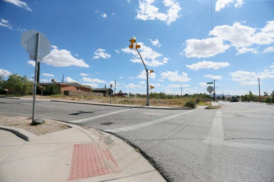 This is the intersection where 7-year-old first-grader Alexa Barrera was fatally struck by an SUV while walking to school Wednesday, Oct. 9, 2019, in El Paso.