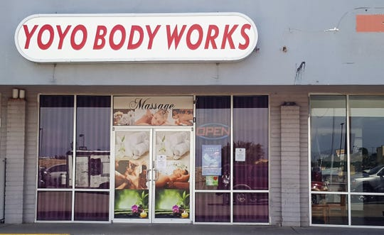 A court order at least temporarily closed Yoyo Body Works, an El Paso massage parlor at 800 N. Zaragoza Road, in the Lower Valley, alleging legal violations.
