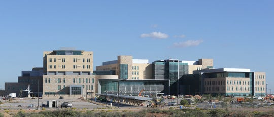 The new William Beaumont Army Medical Center is still under construction.